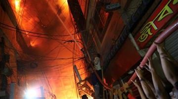 Khabar Odisha:International-Dhaka-Fire-kills-at-least-10-in-Bangladesh-capital