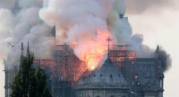 Khabar Odisha:International-France-Fire-breaks-out-at-Notre-dame-cathedral-in-Paris