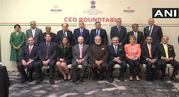 Khabar Odisha:International-Prime-minister-Narendra-Modi-meet-CEOs-from-the-energy-sector-in-Houston