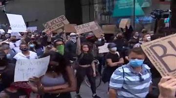 Khabar Odisha:International-Protesters-against-death-of-George-Floyd-gather-in-New-Yorks-times-Squdeath