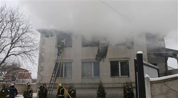 Khabar Odisha:International-Ukraine-kharkiv-private-nursing-home-fire-death-rescue-residential-building