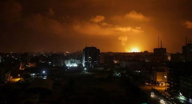 Khabar Odisha:International-odisha-israeli-military-air-strike-in-gaza-after-2-rocket-attacks-in-tel-aviv