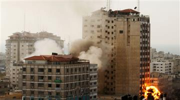 Khabar Odisha:Israel-air-strike-on-media-offices-in-Gaza-City-including-Al-Jazeera-Media-Network-and-The-Associated-Press-news-agency