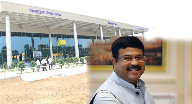 Khabar Odisha:Jharsuguda-airport-after-Veer-Surendra-Sai-passed-unanimously-in-Odisha-Assembly-Support-Dharmendra-Pradhan