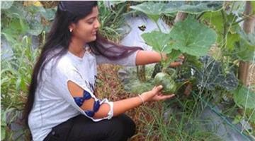 Khabar Odisha:Know-this-lady-whoa-left-the-job-and-start-organic-farming
