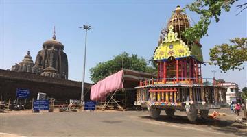 Khabar Odisha:Lord-Lingarajs-Rukuna-Rath-Yatra-Today