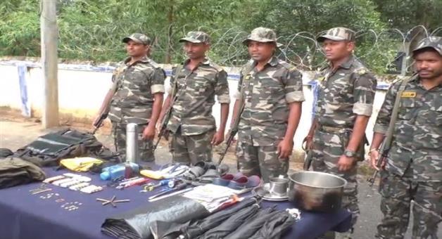 Khabar Odisha:Maoist-security-forces-opened-fire-setting-up-Maoist-camp