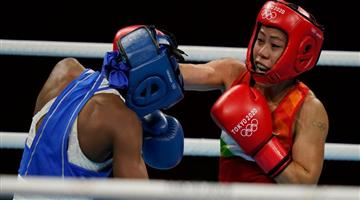 Khabar Odisha:Mary-Koms-bid-for-2nd-Olympic-medal-over-after-Round-of-16-defeat-to-Colombias-Ingrit-Valencia