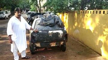 Khabar Odisha:Miscreants-burnt-5-vehicles-of-bjp-ex-corporater-lala-ray