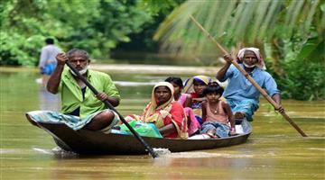 Khabar Odisha:Nation-Assam-Flood-hits-five-districts-of-Aassam-third-time-this-year-life-of-15-lakh-people-affected
