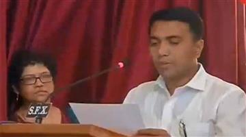 Khabar Odisha:Nation-Goa-Pramod-Sawant-new-Cm-of-Goa-oath-ceremony-at-midnight