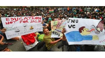Khabar Odisha:Nation-JNU-hostel-fee-protest-Delhi-University-DUSU-support-march-Delhi-police