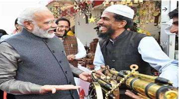 Khabar Odisha:Nation-Prime-Minister-Narendra-Modi-surprise-visit-to-Hunar-Haat-people-reaction