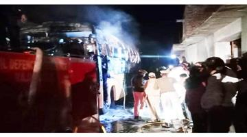 Khabar Odisha:Nation-Rajasthan-Jalore-a-passenger-bus-caught-the-current-in-Jalore-about-a-dozen-people-feared-dead