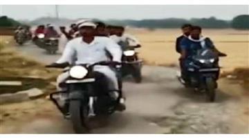 Khabar Odisha:Nation-UP-Amethi-gram-pradhan-Imran-Khan-Naya-Pakistan-Aaya-song-bike-rally
