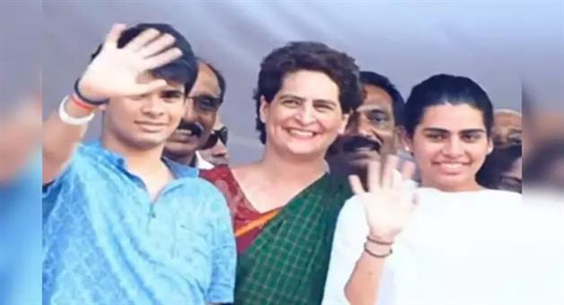 Khabar Odisha:National-news-One-Of-Them-Could-Be-Your-Future-President-Says-Bjp-To-Congress-After-Tweeting-Video-Of-Son-And-Daughter-Of-Priyanka-Gandhi