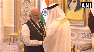 Khabar Odisha:National-news-Pm-Narendra-Modi-Conferred-With-Order-Of-Zayed-By-Crown-Prince