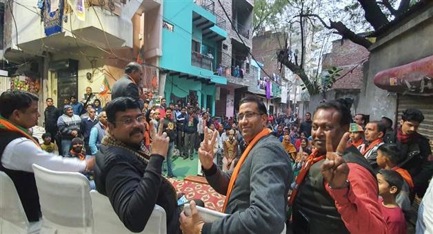 Khabar Odisha:National-news-dharmendra-Pradhan-elecation-campign-in-delhi