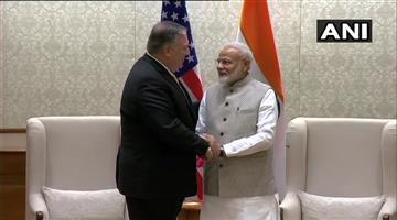 Khabar Odisha:National-odisha-US-Secretary-Of-State-Mike-Pompeo-Meets-Prime-Minister-Narendra-Modi