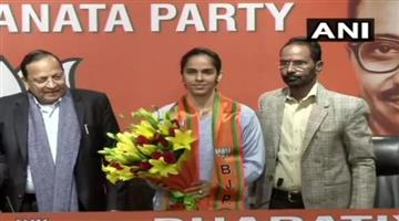 Khabar Odisha:National-politics-Badminton-Player-Saina-Nehwal-Joins-Bjp-In-Delhi