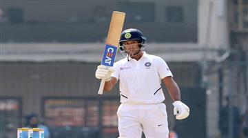 Khabar Odisha:National-sports-Mayank-Agarwal-Smashes-Double-Century-Against-Bangladesh-In-Indore-Test