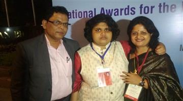 Khabar Odisha:Odishas-Rushali-Role-Model-at-New-Delhi-on-International-physical-handicap-day