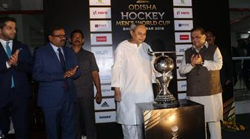 Khabar Odisha:Odisha-CM-Unveils-the-Odisha-Hockey-Mens-World-Cup-Bhubaneswar-2018-trophy