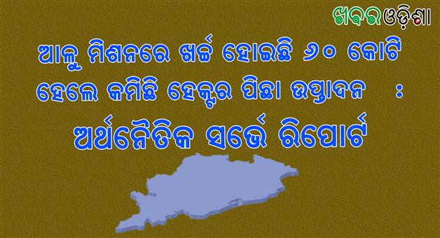 Khabar Odisha:Odisha-Economic-Survey-Report-Potatto-Mission