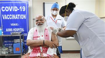 Khabar Odisha:PM-Modi-Corona-vaccinated-today