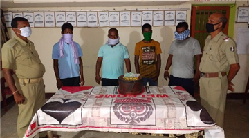 Khabar Odisha:Police-raid-on-gambling-den-4-arrested