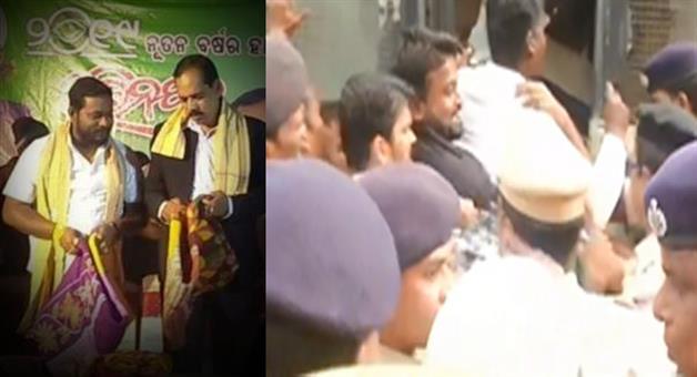 Khabar Odisha:Politics-Odisha-student-congress-bhubaneswar-meyor-ananta-narayan-jena-link-with-golden-baba
