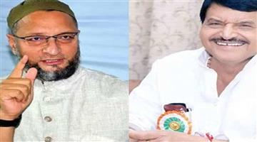 Khabar Odisha:Politics-Uttar-Pradesh-mission-2022-Shivpal-Yadav-met-Asaduddin-Owaisi-at-wedding-ceremony
