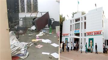 Khabar Odisha:Politics-odisha-party-supporter-rebel-in-congress-bhawan-saturday-and-broke-the-garmeg