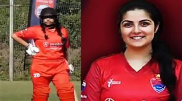 Khabar Odisha:Rare-incident-in-cricket-wife-was-keeping-while-husband-bowling
