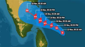 Khabar Odisha:Red-Arlott-in-Tamil-Nadu-and-Puducherry-in-view-of-the-sea-storm-Nibar