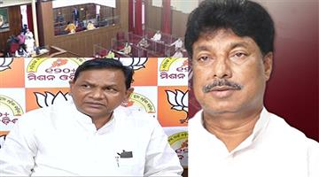 Khabar Odisha:Revenue-Minister-Sudham-Marandi-in-the-Assembly-on-the-Odisha-Andhra-border-dispute-again-surrounded-by-opposition