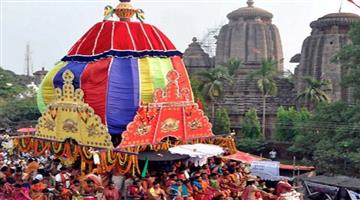 Khabar Odisha:Rukuna-Rath-Yatra-of-Lord-Lingaraj-Celebrated-as-prepared-plan-by-the-temple-commite