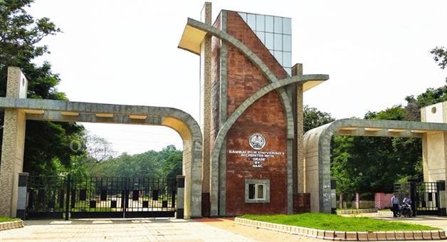 Khabar Odisha:Sambalpur-University-protest-agnaist-offline-exame-turn-violent