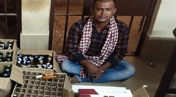 Khabar Odisha:Smuggling-of-foreign-liquor-is-on-the-rise-in-Lockdown-with-43-liters-of-foreign-liquor-seized-in-a-surprise-raid