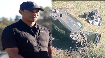 Khabar Odisha:Sports-Golfer-Tiger-Woods-hospitalised-after-being-involved-in-car-accident