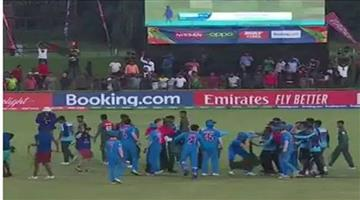 Khabar Odisha:Sports-cricket-India-and-Bangladesh-players-ugly-spat-after-under-19-world-cup-final-match