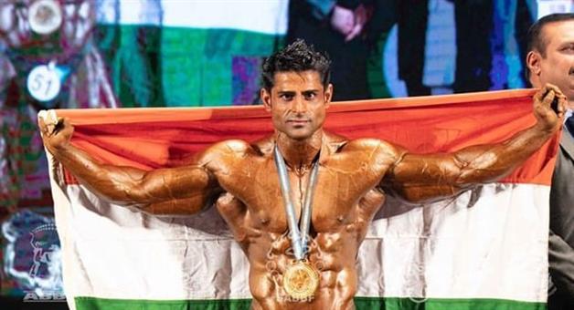 Khabar Odisha:Sports-odisha-indian-bodybuilder-ravinder-malik-clinches-mr-south-asia-title