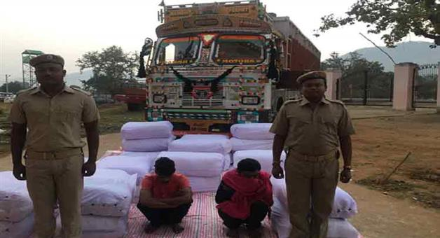 Khabar Odisha:State-Odisha--Khairaput-Police-seizes-8-quintal-ganja-from-Podaghat-area