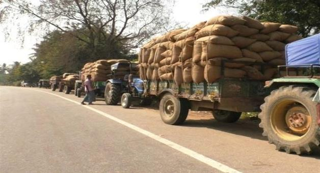 Khabar Odisha:State-Odisha-Farmers-in-Sambalpur-decide-to-stage-protest-by-placing-paddy-bags-in-front-of-district-collectorate-today