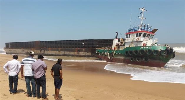 Khabar Odisha:State-odisha-malesiya-ship-damage-in-chilika-lake