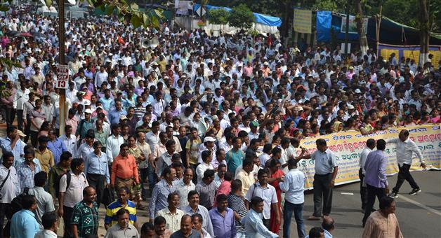 Khabar Odisha:Teachers-Strikes