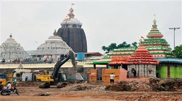 Khabar Odisha:The-beautification-work-of-the-puri-shri-mandira-has-resumed-from-today