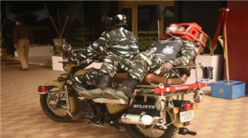 Khabar Odisha:The-bike-ambulance-service-Rakshita-was-launched-with-the-aim-of-providing-healthcare-to-the-injured-CRPF-youth