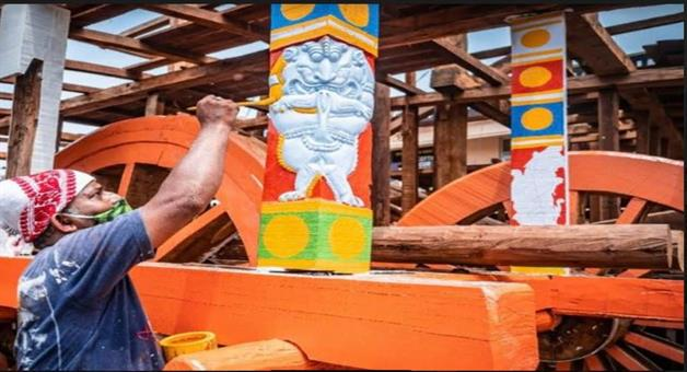 Khabar Odisha:The-construction-of-the-chariot-is-nearing-completion