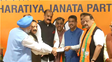Khabar Odisha:Two-senior-leaders-including-an-adviser-to-the-former-chief-minister-of-Jammu-and-Kashmir-left-the-national-conference-and-joined-the-BJP